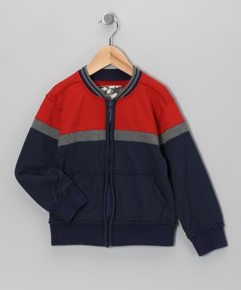 Antique Red French Terry Jacket - Toddler & Boys