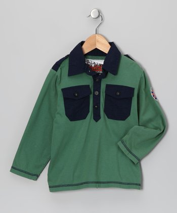 Woodlawn Green Polo - Toddler & Boys