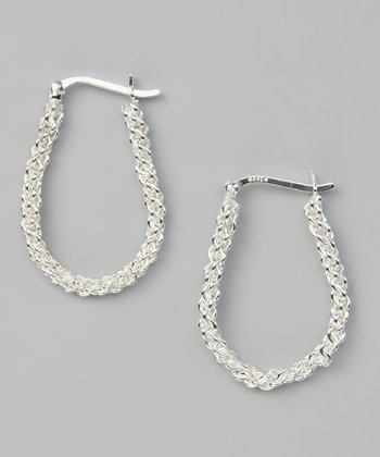 Sterling Silver Chain-Link Hoop Earrings
