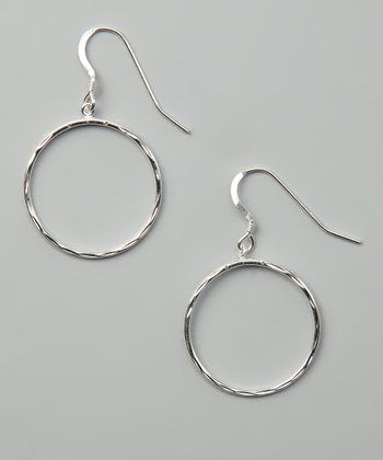 Sterling Silver Small Diamond-Cut Drop Earrings