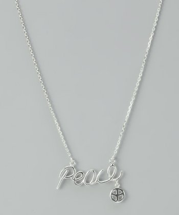 Sterling Silver 'Peace' Necklace