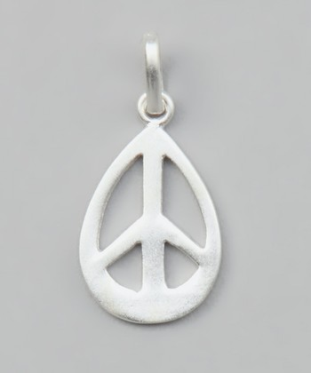 Sterling Silver Peace Sign Pendant