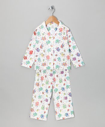 White Sheep Pajama Set - Toddler