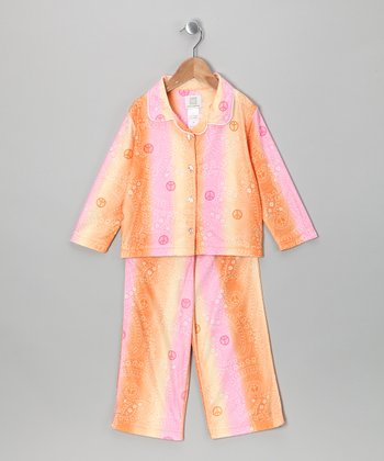 Orange Peace Pajama Set - Toddler