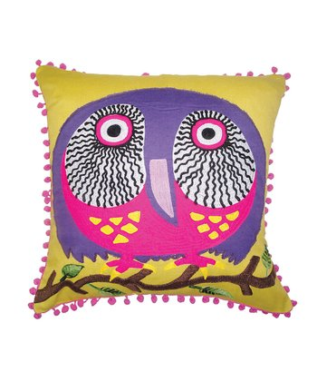 Karma Living Yellow Owl Pillow