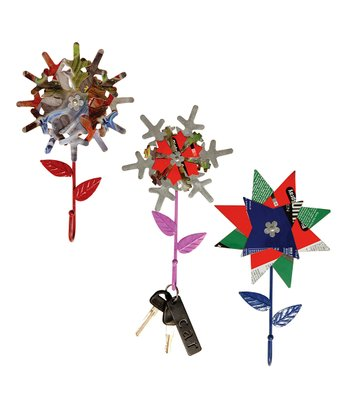 Recycled Steel Flower Hook Set