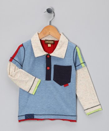 Blue Layered Polo - Infant, Toddler & Boys