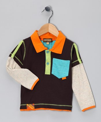 Brown Layered Polo - Infant, Toddler & Boys