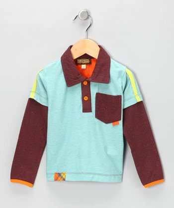 Seaweed Layered Polo - Infant, Toddler & Boys