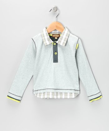 Light Gray Layered Polo - Infant, Toddler & Boys