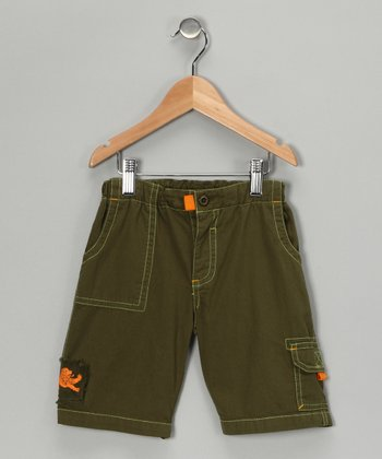 Olive Wader Shorts - Boys