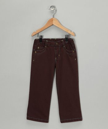 Chocolate Twill Pants - Infant