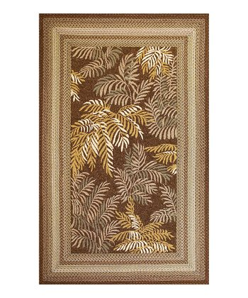 Brown Fern Indoor/Outdoor Rug