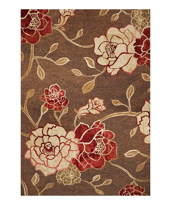 Mocha Flora Indoor/Outdoor Rug