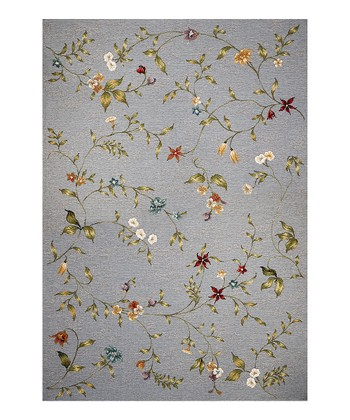 Blue Floral Indoor/Outdoor Rug