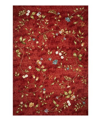 Red Horizon Floral Indoor/Outdoor Rug