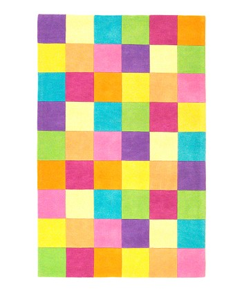 Pink Color Block Rug