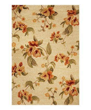 Beige Meridian Fiore Indoor/Outdoor Rug
