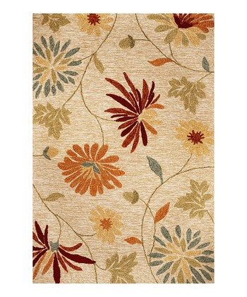 Beige Meridian Sofia Indoor/Outdoor Rug