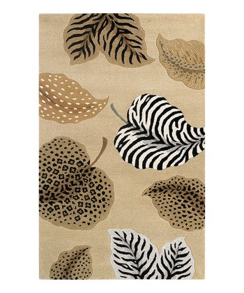 Beige Jungle Air Sahara Wool Rug