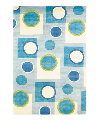 Sky Blue Fizz Signature Wool Rug