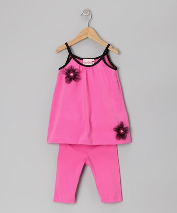 Pink Flower Tunic & Leggings - Toddler
