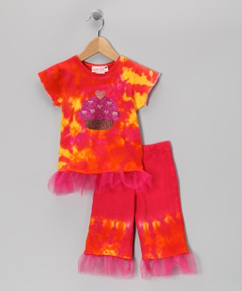 Raspberry Cupcake Tunic & Leggings - Infant, Toddler & Girls