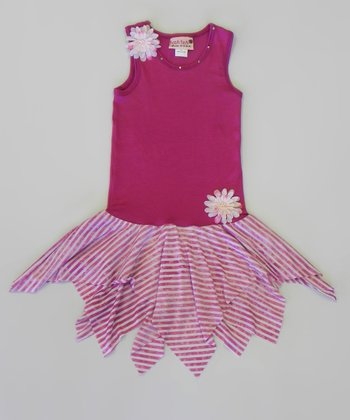 Berry Watercolor Handkerchief Dress - Toddler & Girls