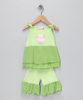 Lime Ruffle Swing Top & Pants - Infant & Toddler