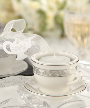 Teacup Candle Holder & Tealight - Set of 12