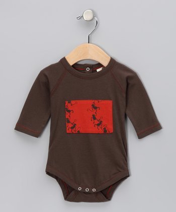 Charcoal Patch Organic Bodysuit - Infant