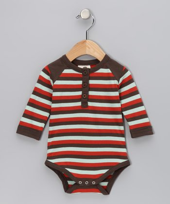 Stripe Henley Organic Bodysuit - Infant