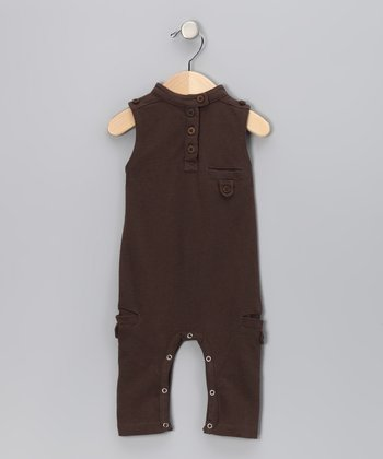 Charcoal Military Organic Playsuit - Infant