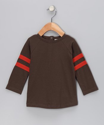 Charcoal Football Organic Raglan Tee - Infant, Toddler & Boys
