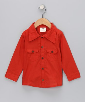 Amber Woven Organic Button-Up - Infant, Toddler & Boys