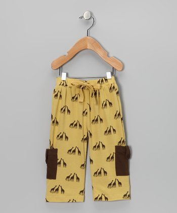 Giraffe Tab Pocket Organic Cargo Pants - Infant, Toddler & Kids