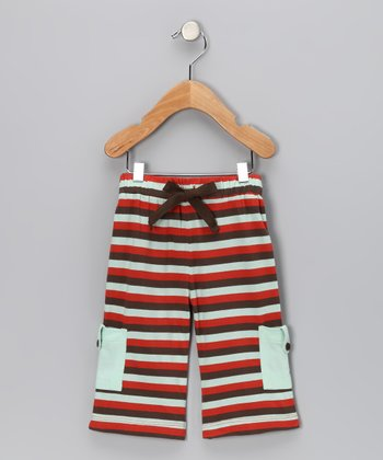 Tri-Stripe Tab Pocket Organic Cargo Pants - Boys