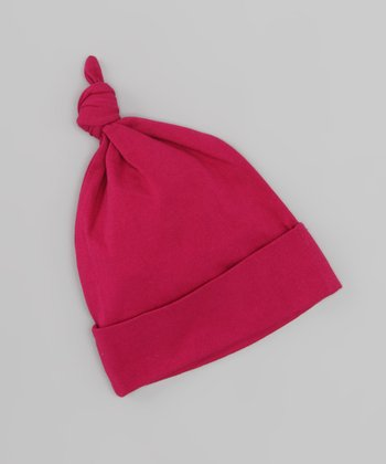 Raspberry Organic Single-Knot Beanie