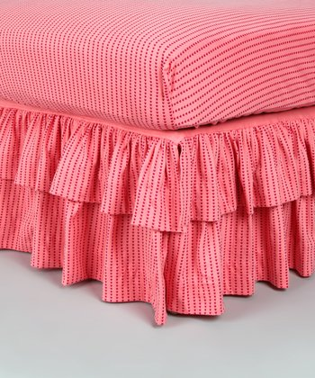 Heart Ruffle Organic Crib Skirt