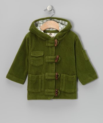 Dill Toggle Organic Sherpa Coat - Infant & Kids