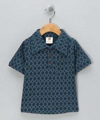 Blue Steel Argyle Organic Polo - Infant, Toddler & Boys