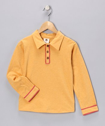 Vintage Gold Organic Polo - Infant, Toddler & Boys