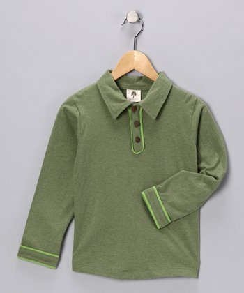 Vintage Green Organic Polo - Infant, Toddler & Boys