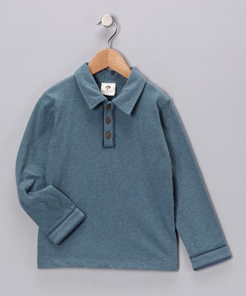 Vintage Blue Organic Polo - Infant, Toddler & Boys