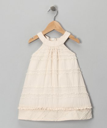 Ivory Eyelash Dress - Toddler & Girls