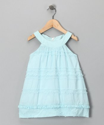 Light Blue Eyelash Dress - Toddler & Girls