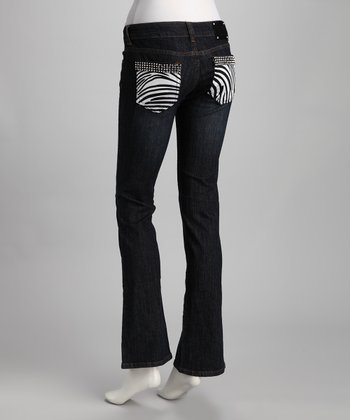 Blue Zebra Pocket Jeans