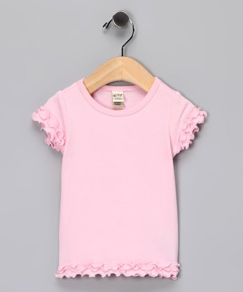 Baby Pink Lettuce-Edge Tee - Infant