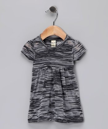 Charcoal Burnout Dress - Infant