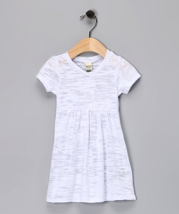 White Burnout Dress - Toddler & Girls